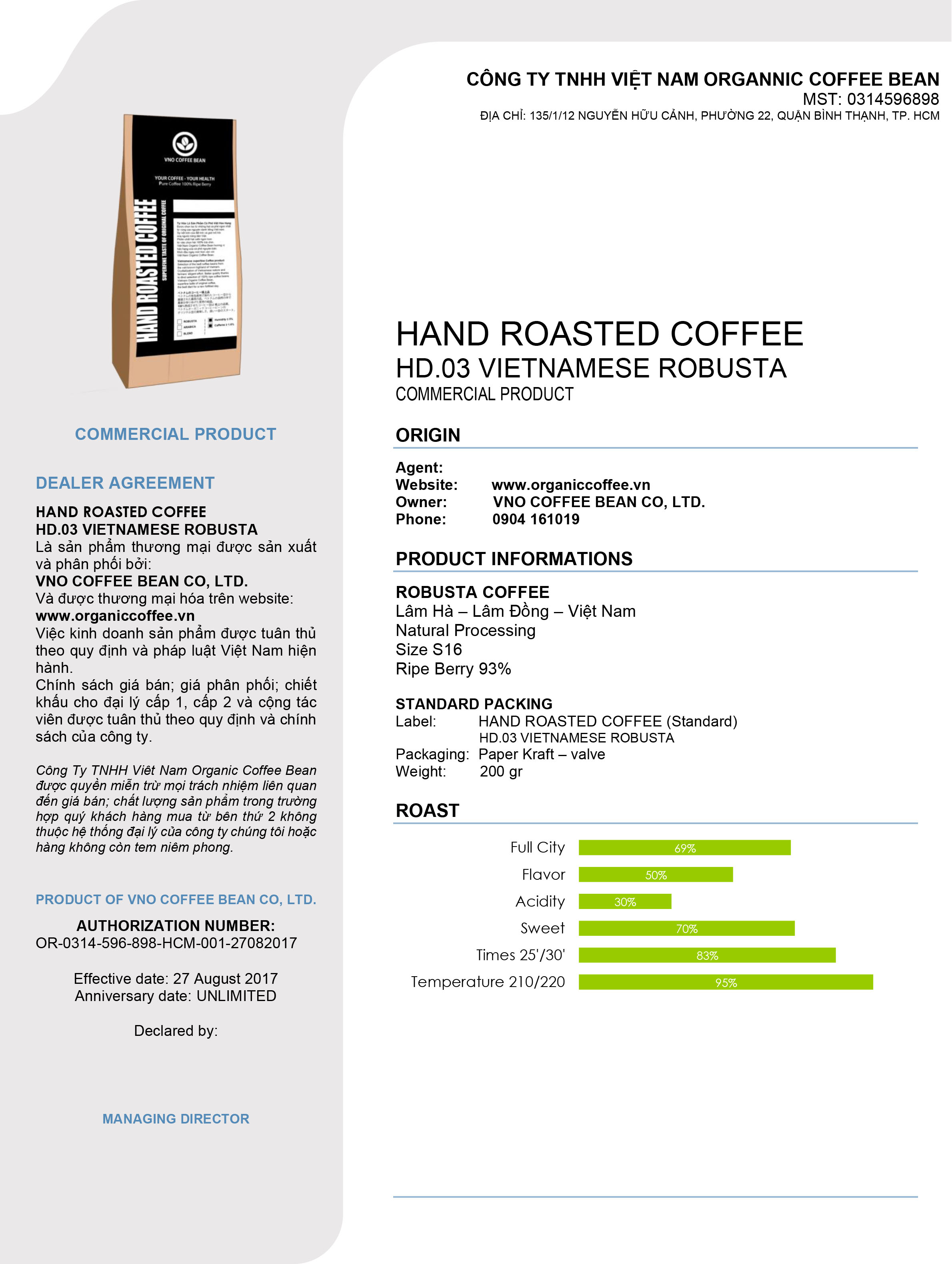 HD.03 ROBUSTA COFFEE